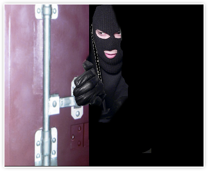 Thief breaking into shipping container | Cargo Container Security | Shipping Container Seals